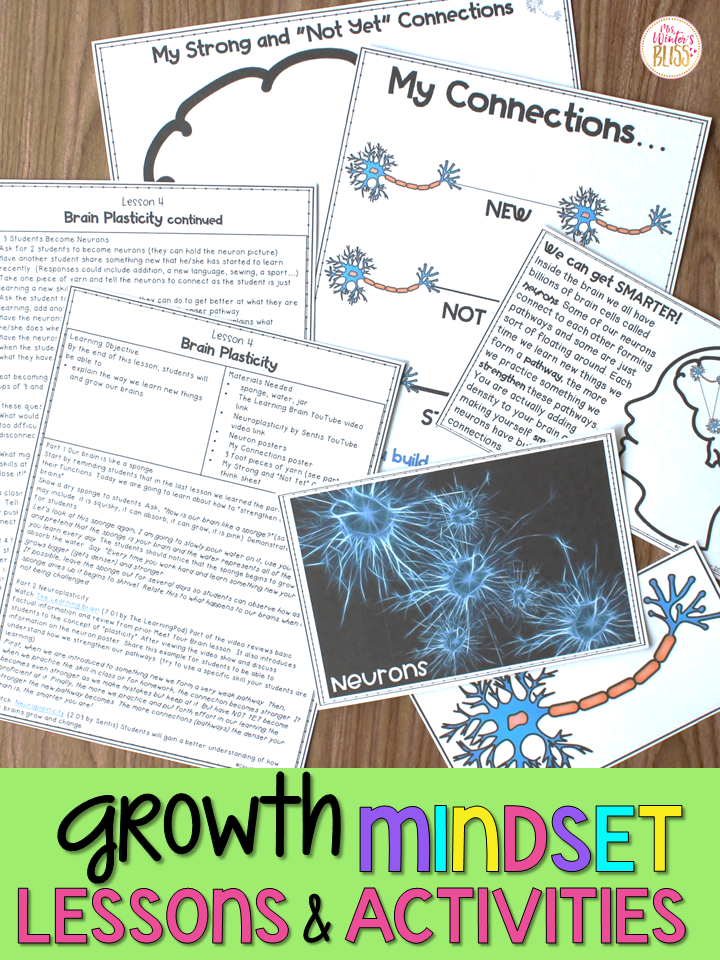 Growth Mindset Lessons and Activities - Mrs  Winter's Bliss