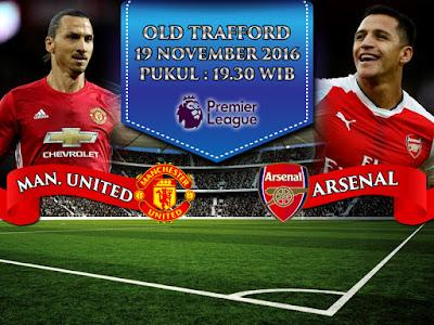 Situs Maxbet Online Terlengkap - Prediksi Bola Premier League Manchester United vs Arsenal 19 November 2016