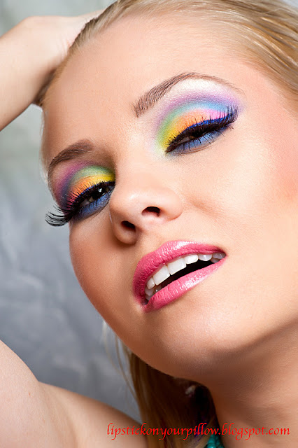 Rainbow Makeup Look - Lipstick On Your Pillow