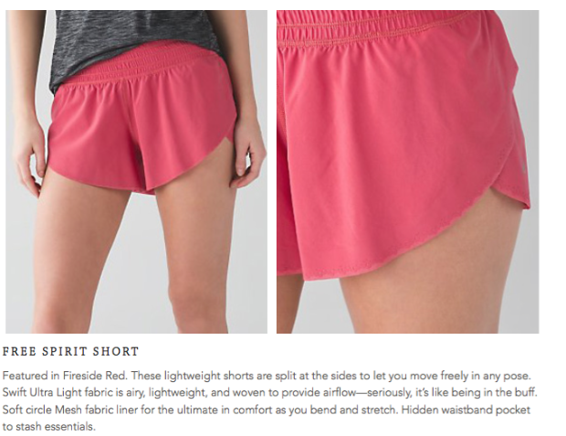 lululemon free-spirit-short fireside red