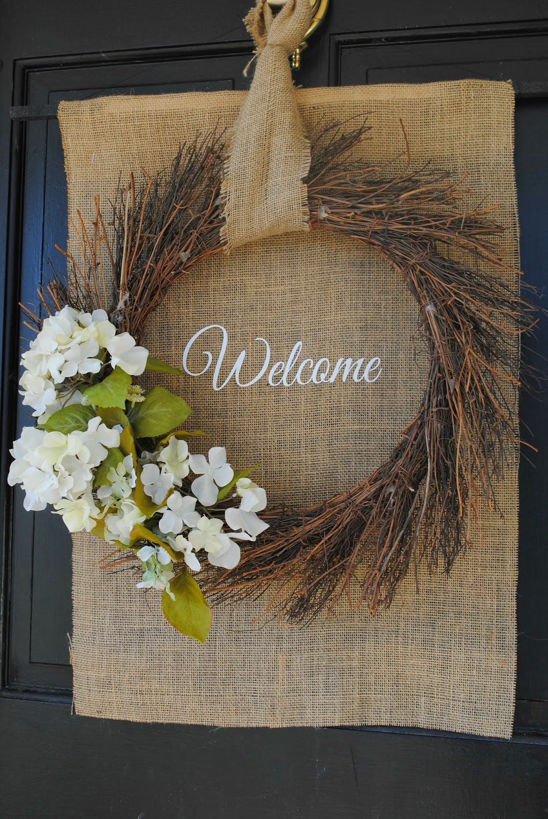 Two It Yourself: DIY Front Door Spring Wreath