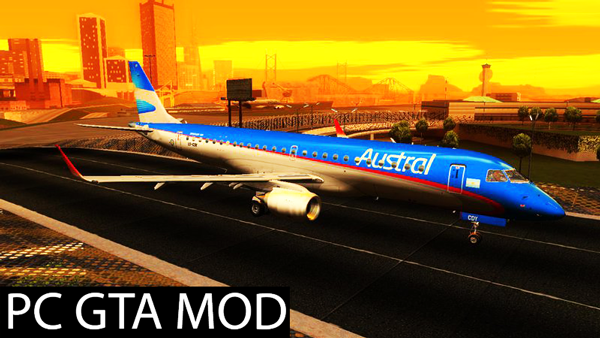 Free Download Embraer 190 Livery Pack  Mod for GTA San Andreas.