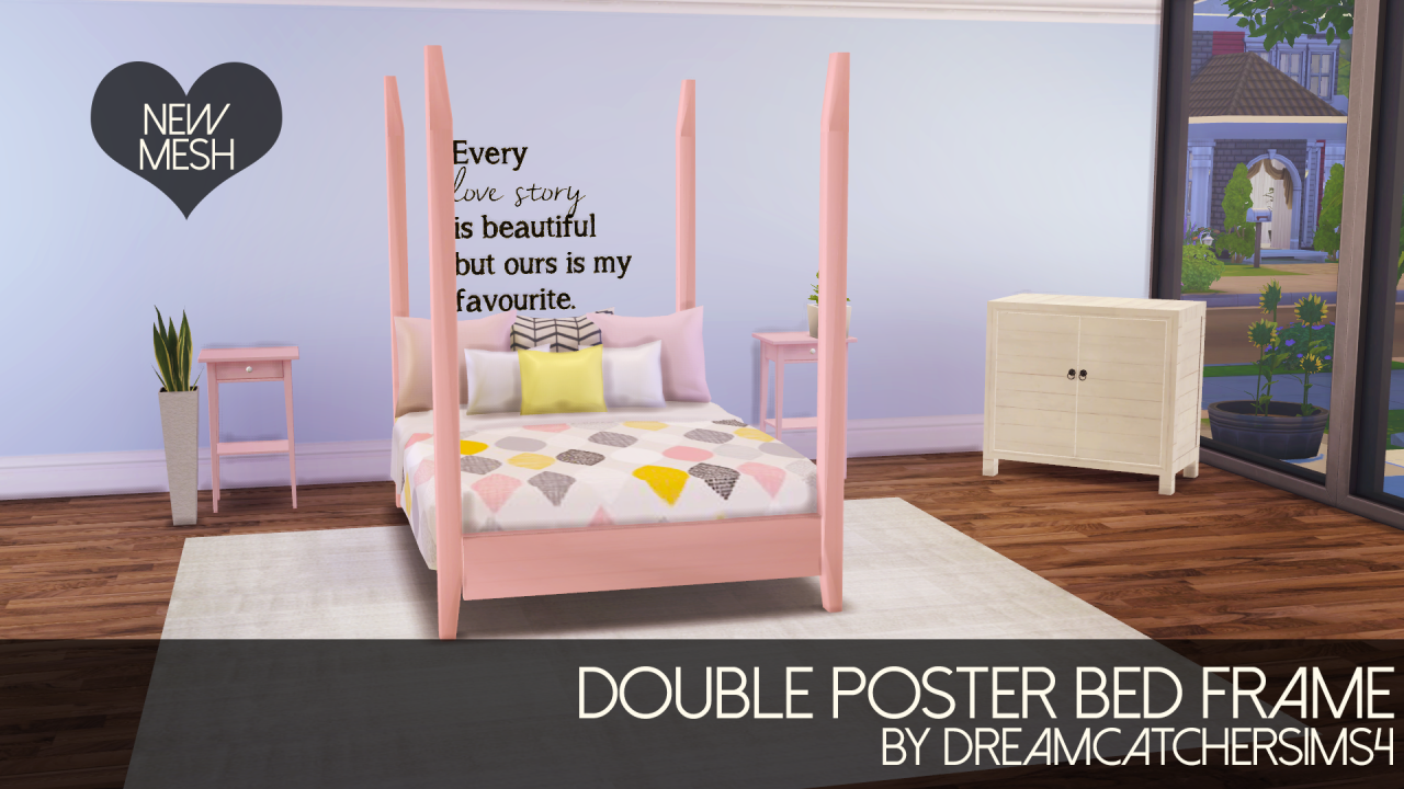 My Sims 4 Blog: Four Poster Bed