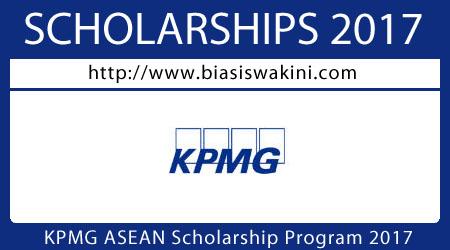 KPMG ASEAN Scholarship 2017