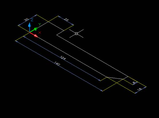 Sketch untuk Base-Feature dari  part Bracket Sederhana PB-080