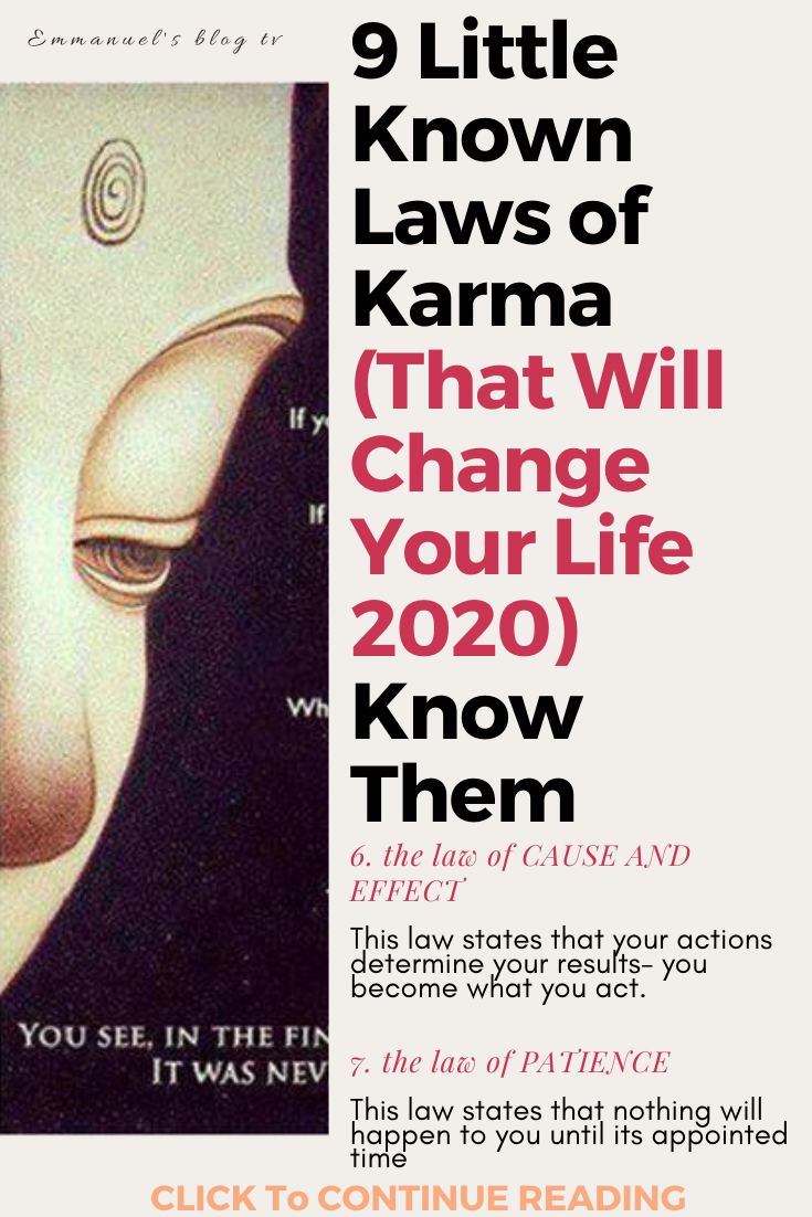 9 Little Known Laws of Karma (That Will Change Your Life 2020) Know Them