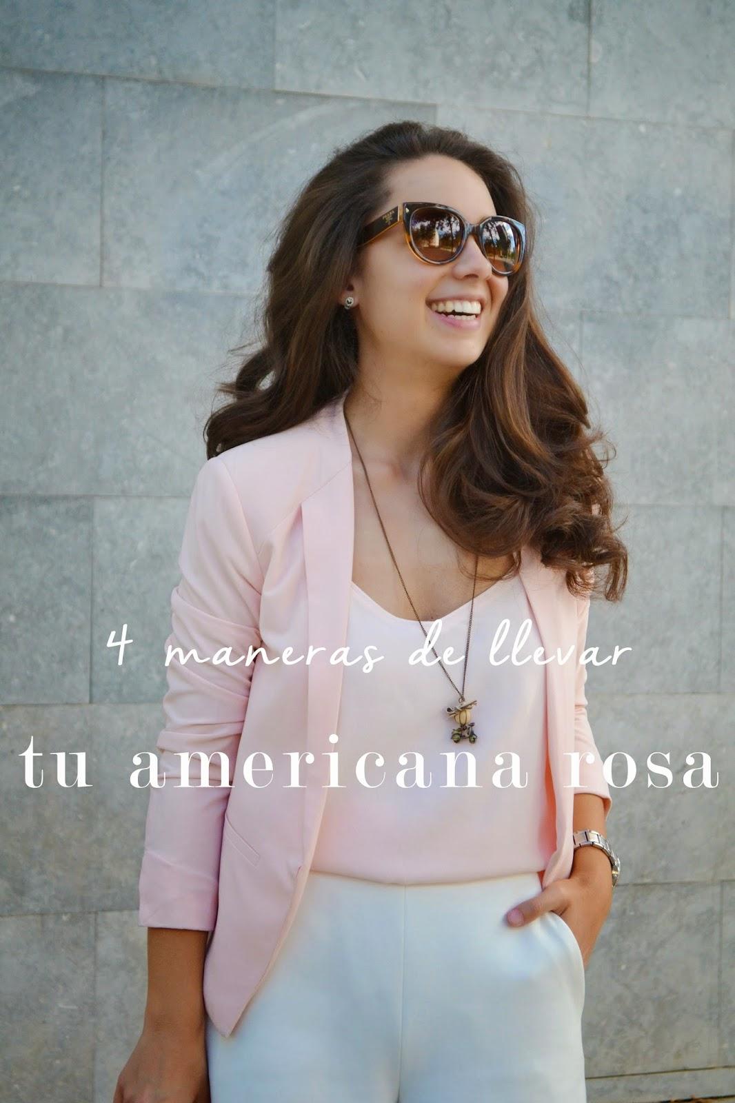 4 maneras de llevar tu americana rosa
