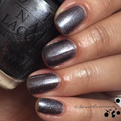 Swatch of No More Mr Knight Sky nail polish by OPI