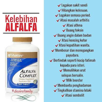 Khasiat Alfalfa Complex Shaklee