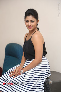 Telugu Actress Kruthika Jayakumar Stills in Short Dress at Intlo Deyyam Nakem Bhayam Success Meet  0187.JPG