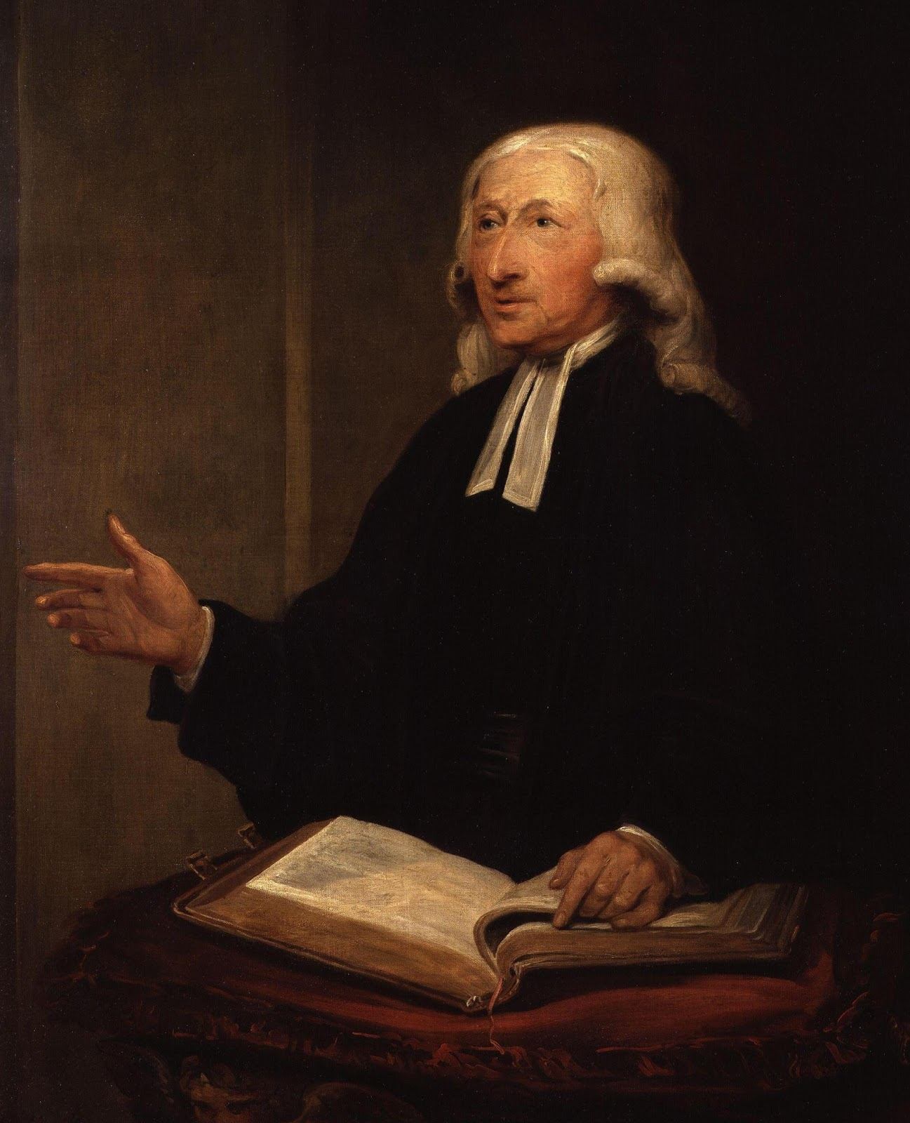 John Wesley, a man of one book (homo unius libri) pointing to the centrality of the Bible in his life.