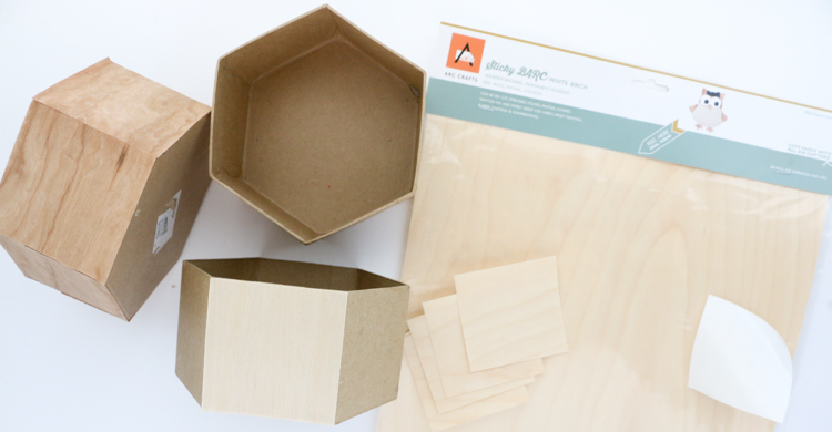 Craft It Faux Wood Hexagon Storage Boxes A Kailo Chic Life