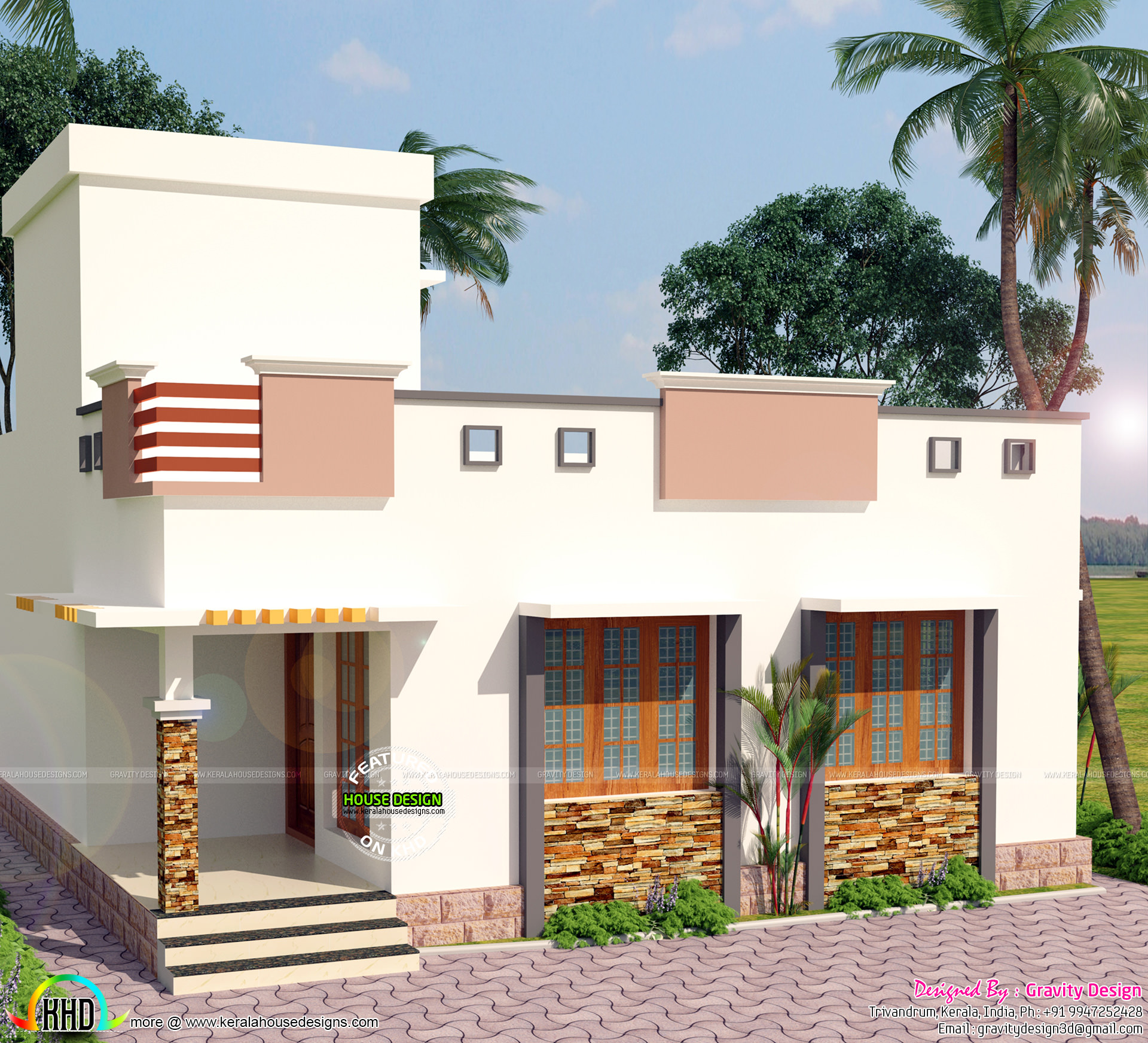 900 sq ft 2 bedroom modern home kerala home design and for Home design 900 sq feet