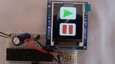 ST7735 with PIC16F887 microcontroller hardware circuit