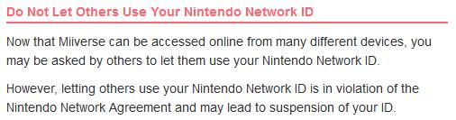 Miiverse Code of Conduct NNID sharing Nintendork Network ID