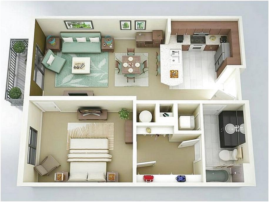 Denah Rumah Minimalis 4 Kamar Tidur 3d Inspirasi Desain Rumah 2019