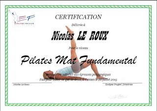 Diplôme de Pilates