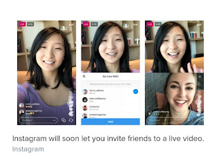 instagram invite live video broadcasts chats