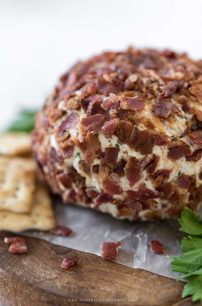 Quick and easy cheese ball appetizer