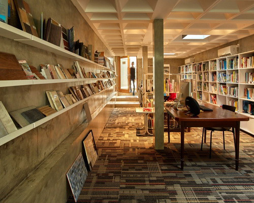 Tinuku.com RAW Architecture designed calm atmosphere for Omah architecture library and bookstore in Jakarta noisy
