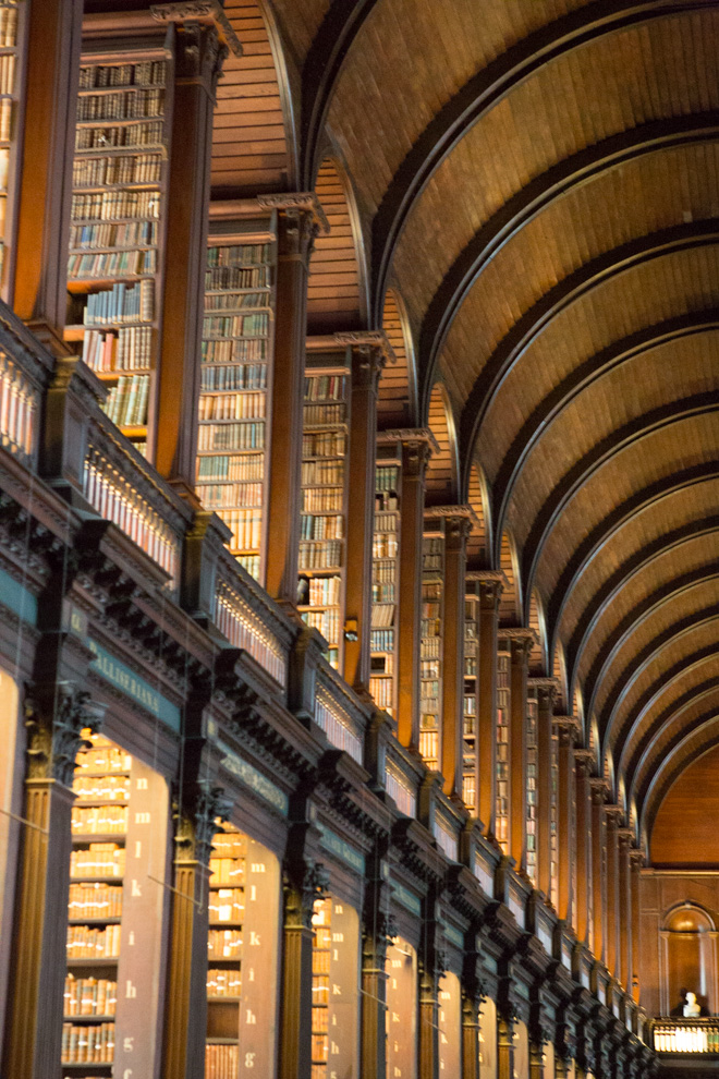 long room trinity college library ireland dublin