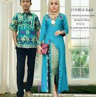 Batik Pasangan SBRG 125 Couple Gamis Kebaya Modern Tosca