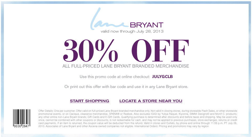 Lane Bryant has offered a sitewide coupon (good for all transactions) for 30 of the last 30 days. The best coupon we've seen for siti-immobilier.tk was in May of and was for $ off. Sitewide coupons for siti-immobilier.tk are typically good for savings between $10 and $