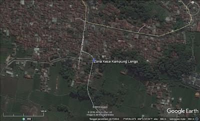 Lokasi zona kece Kapung Lengo di google earth,