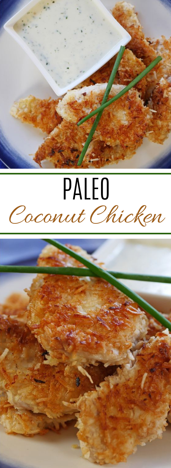 Coconut Crusted Chicken #paleo #lowcarb