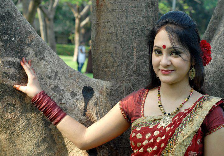 South Indian Village Aunties Photos With Red Saree -9997