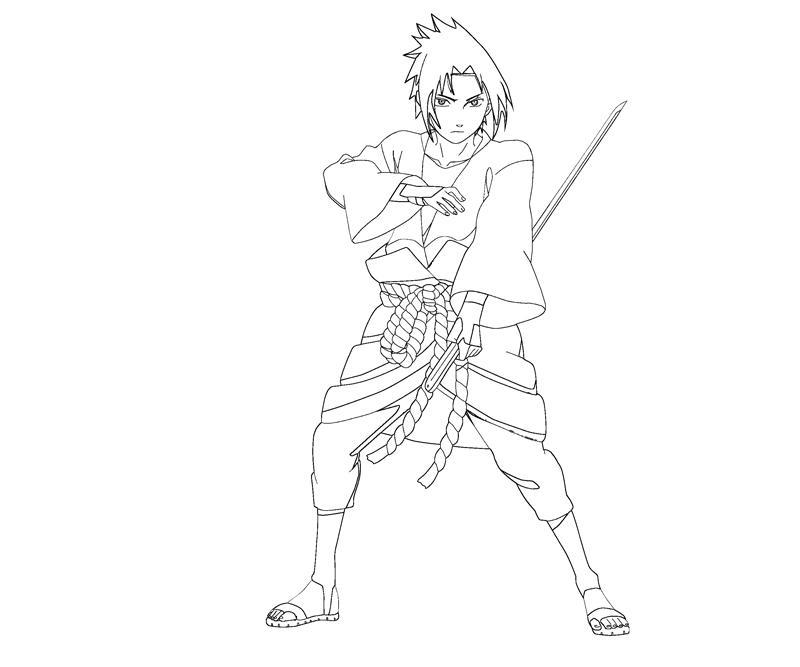 sasuke uchiha coloring pages - photo#24