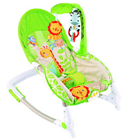 Bouncer Care Baby CPR61061 Giraffe New Born-to-Toddler Portable Rocker