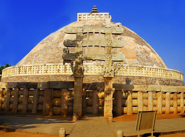The Great Stupa of Sanchi built by Emperor  Ashoka