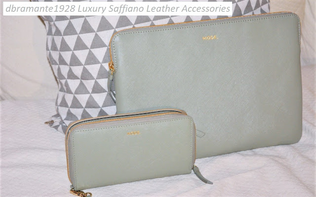 A matching wallet and MacBook case in a gorgeous olive green Saffiano leather from dbramante1928, perfect to be fashionable while getting high quality and functionality. #dbramante1928 #saffianoleatheraccessories #luxuryaccessories #handmadeaccessories #highqualityaccessories #modelapurse #leatherwallet #leatherlaptopcase #leathertabletcase #leathermacbookcase #fashion