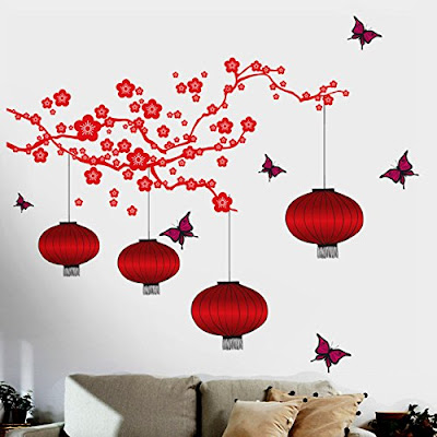 Decals Design 'Chinese Lamps in Double Sheet' Wall Sticker