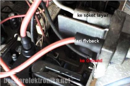 Cara Ganti Potensio Flyback TV yang Rusak Tehnisikecil.com