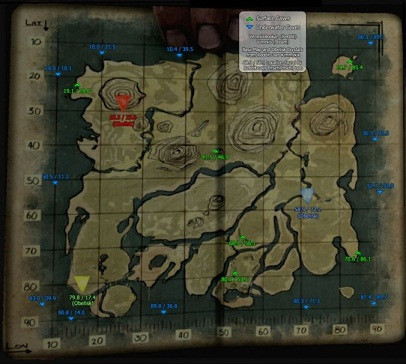 ARK: Survival Evolved - all cave locations, details - map