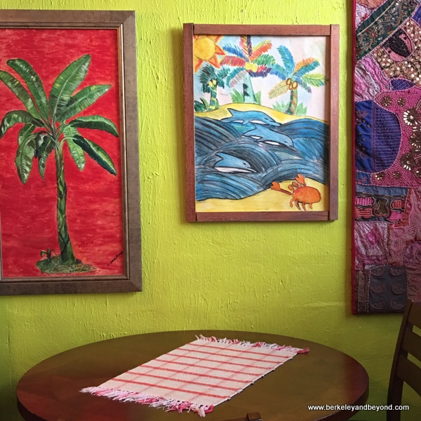 art at Coloz restaurant in Port of Spain, Trinidad