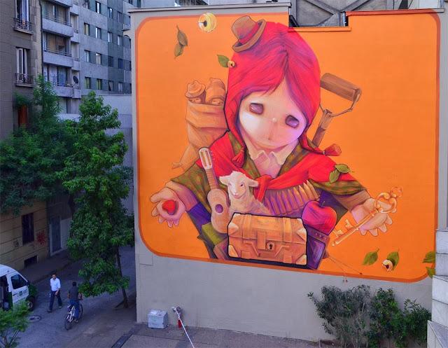 Two New Murals By Chilean Artist INTI in Santiago de Chile For The Hecho En Casa Street Art Festival. 3