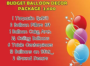 Budget Balloon Decor Package 3,600