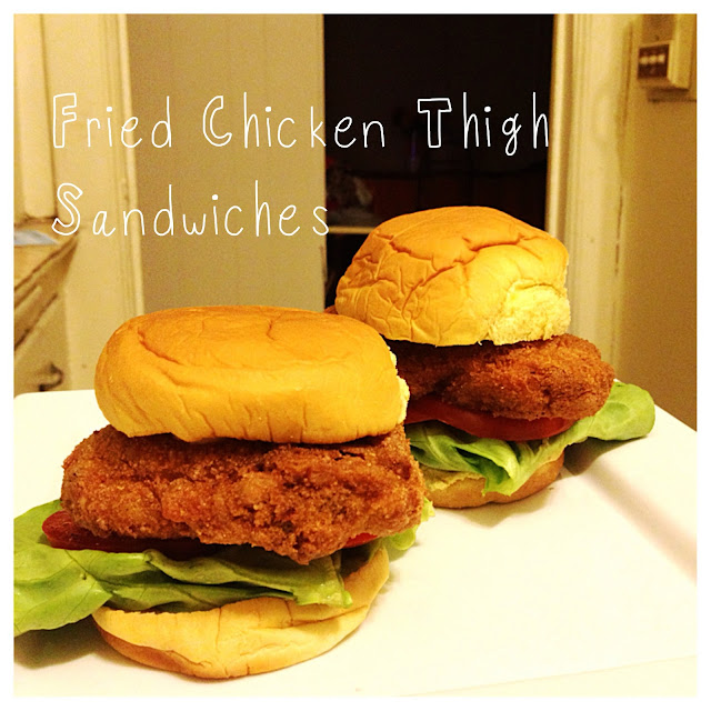 fried chicken, chicken thighs,  sandwiches, ginger,