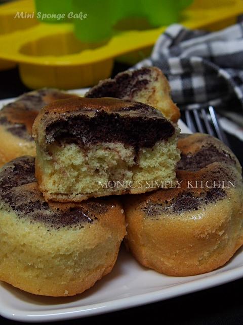 resep mini sponge cake tanpa emulsifier