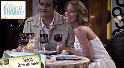 Felipe e Alice da novela Amor e Intrigas, da Rede Record