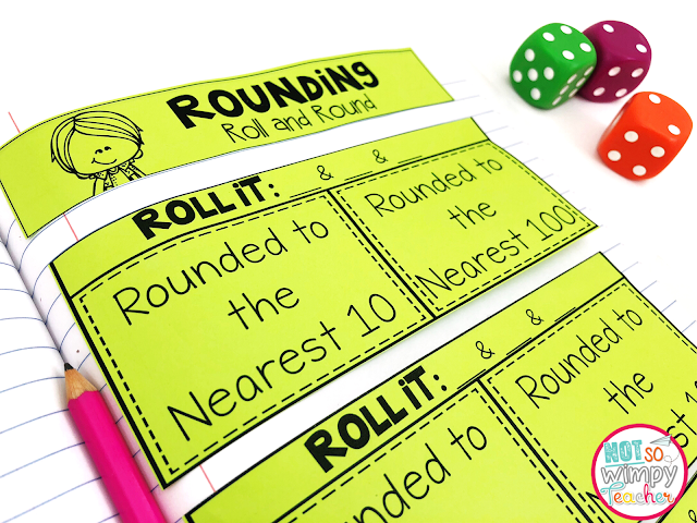 FREE rounding interactive notebook activities!