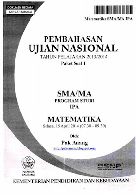 Latihan Soal UN SMA