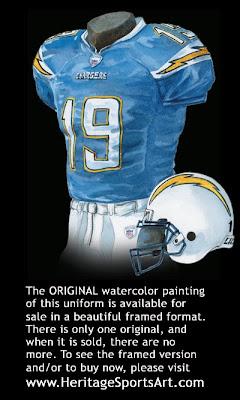 San Diego Chargers 2007 uniform