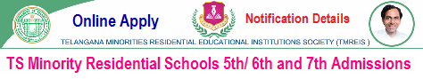 TMREIS 7th Class Admission 2019 Telangana Minority Residential Schools 7th Class Admissions 2018