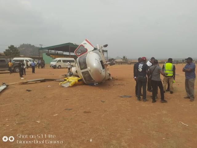 Helicopter carrying Prof. Osinbajo crash lands in Kogi