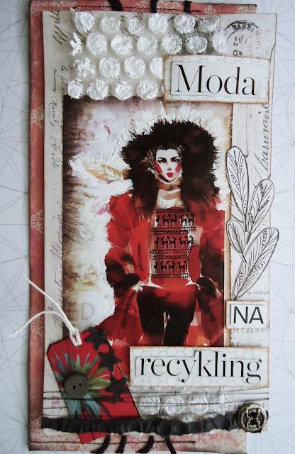moda na recykling, scrapbooking, kartka