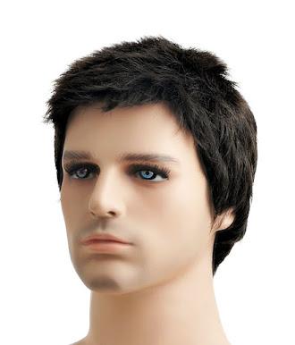 Erkek kısa saç peruk